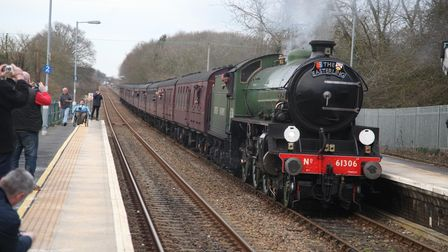The Easterling steam tour hauled by Mayflower, a steam engin normally housed at the North Norfol