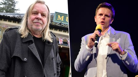 Rick Wakeman officially opening the Diss Museum in 2016.