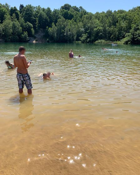 Dozens were seen swimming at Bawsey Country Park