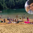 Dozens of people were seen swimming at Bawsey Pits just a month after Radek Gina drowned in the former quarry