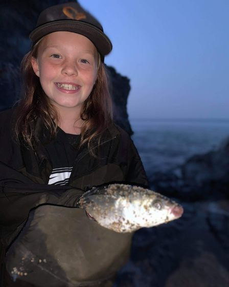 Maisie White with her first Mullet