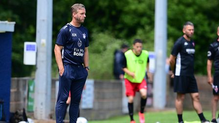 Kevin Hill, Manager of Exmouth Town during pre season match