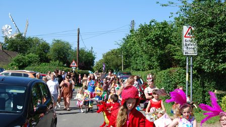 Young people took over the village as they celebrated the end of the school year