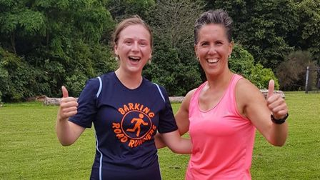 Emma Botterill and Joyce Golder shared first place in Barking'shandicap series