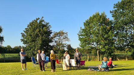 Villagers gathered for a picnic to show how important the green space is to them