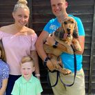 The Mower familywith their beloved cocker spaniel, Murphy, who went missing from his home in Ashill