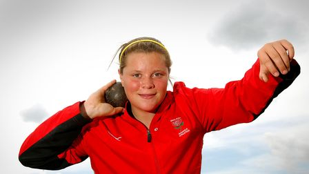 Picture of shot put star of the future from Great Yarmouth, Sophie Mckinna, who is a member of the E