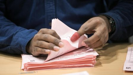 Ballot papers beingcounted on August 12 for Tower Hamletsby-election