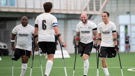 Peterborough United Amputees celebrate FA Disability Cup win