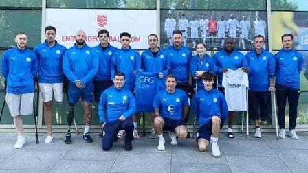 Peterborough United Amputees at St George's Park ahead of FA Disability Cup Final 2021