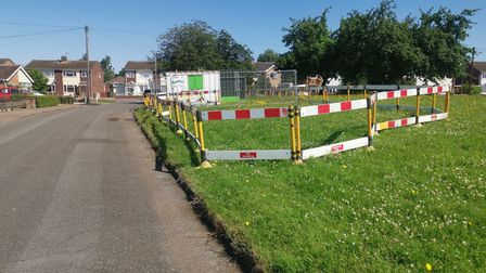 The fenced off area at Boyd Avenue.