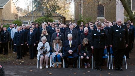 Minute's silence by familiesof Billy Faust and Adam Meere, with fire brigade colleagues the 2017 unveiling