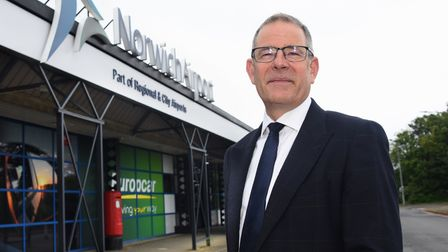 Norwich Airport managing director, Richard Pace. Picture: DENISE BRADLEY