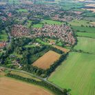 Picture by Mike Page shows :- Aerial view of Hethersett.
