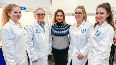BBC TV presenter Anita Rani came to UEA in November 2019 to film a documentary. Anita is pictured wi