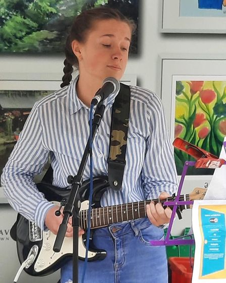 Isla Mae, 14, from Linton Village College won the song writing competition, with her haunting song called 'The Rainbow'.