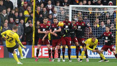 Norwich City in action at Watford last season. Picture: Paul Chesterton/Focus Images Ltd