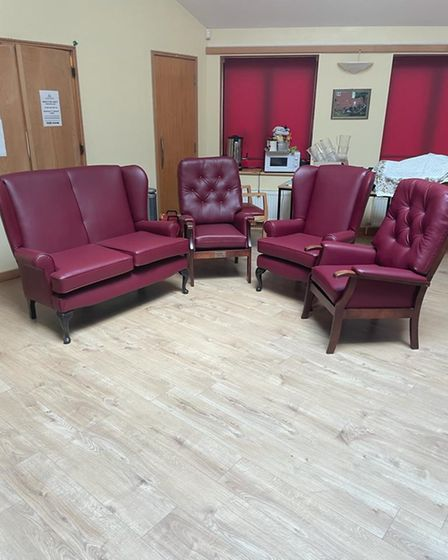 Re-upholstered furniture at Dereham Meeting Point
