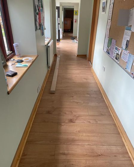 A freshly-laid new floor at Dereham Meeting Point