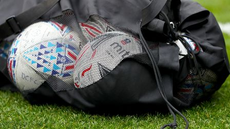 Mitre footballs on the pitch ahead of the FA Cup third round match at Selhurst Park, London.