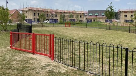 Fencing has been erected for the new play area set to be installed on the Kingsfleet estate in Thetford.