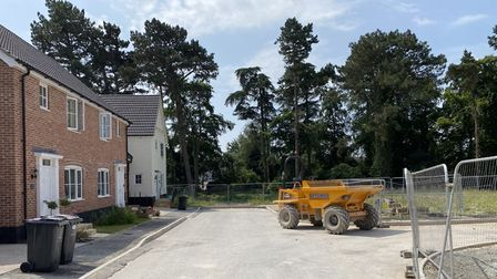 The road leading to where a new footpath is set to be built, so families can access Joe Blunt's Lane.