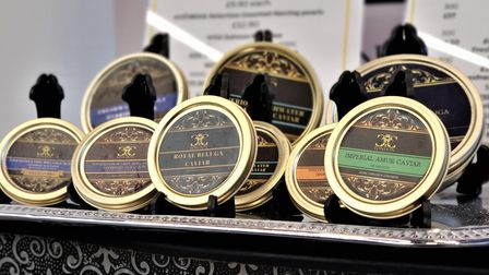 11 different caviars on the shelves for the everyday East End shopper