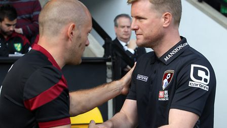 Norwich manager Alex Neil and Bournemouth counterpart Eddie Howe are both embroiled in a Premier Lea