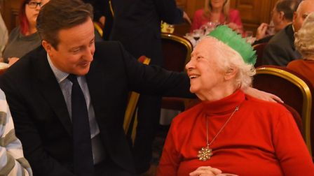 Prime Minister David Cameron chats with guests at the Downing Street party. Picture: Ian Burt