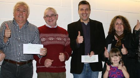 Representatives of local groups celebrate getting a share of the £21,000 handed out from this year's