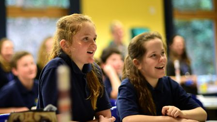 CNS students watch Tim Peake's live rocket launch. Take off.Picture: ANTONY KELLY