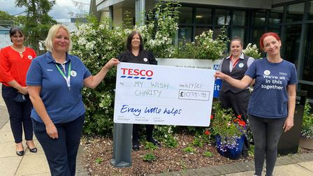 Staff at Tesco in Newmarket have raised more than £1,000 in memory of a former colleague