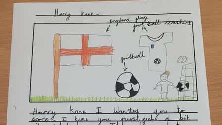 A supportive letter sent to the England Euro 2020 team, written by a student at Takeley Primary School