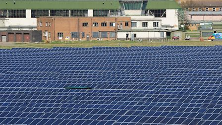 Scottow Moor Solar Park on the Norfolk County Council-owned Scottow Enterprise Park, located on the