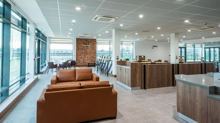 The modern cafe area in the new Northern Gateway Sports Park