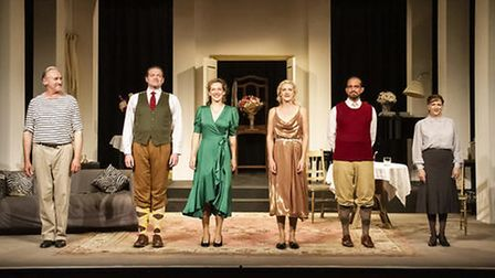 The Aldeburgh Classic Theatre cast of Fallen Angels back on stage at the Jubilee Hall