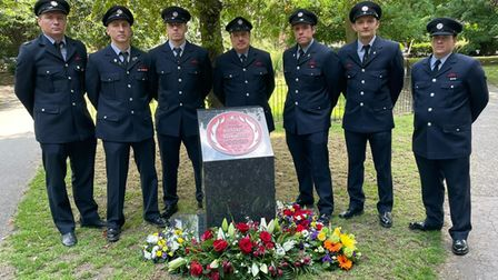 London Fire Brigade tribute to fallen comrades Billy Faust and Adam Meere at Bethnal Green