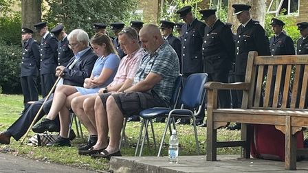 Families and comrades of the two fallen firefighters remembered 17 years on