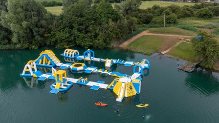 Whittlesey Aquapark., WhittleseyTuesday 20 July 2021.Picture by Terry Harris.