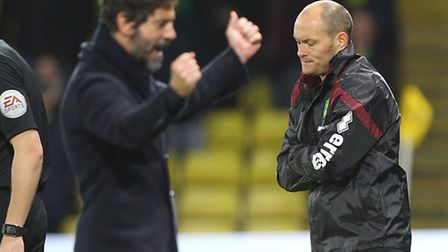 Norwich City manager Alex Neil had to suffer along with his players and supporters in a 2-0 Premier
