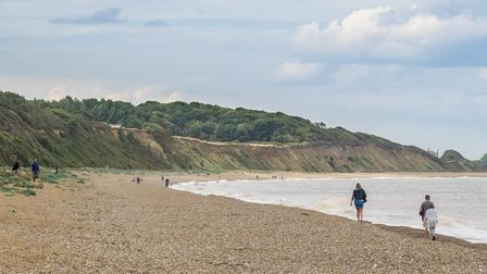 Dunwich beach is usually quiet - perfect for families who have a dog