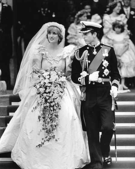 Prince Charles and Princess Diana's wedding at St Paul's Cathedral, 29 July 1981. Picture: Archant L