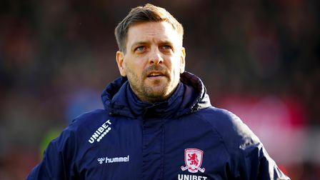 File photo dated 08-02-2020 of Middlesbrough manager Jonathan Woodgate Issue date: Monday February 1