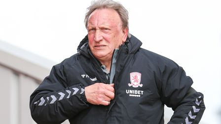 Middlesbrough manager Neil Warnock during the Sky Bet Championship match at Oakwell, Barnsley. Pictu