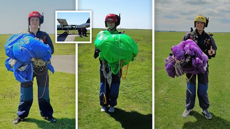 Ely air cadets during parachute training