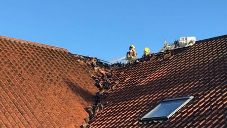 The fire caused structural damage to the Iceni House residential accommodation.