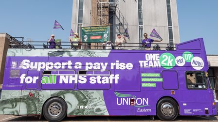 NHS workers' union UNISON and members of the local trades council joined in with the campaign morning in Wisbech.