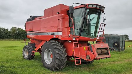 One of more than 300 lots of farm machinery being auctionedatCuckoo Tye Farm inActon near Sudbury on July 31