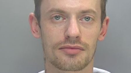 Adam Bishop-Bridges, of Ely, has been jailed for launching a violent attack against his former partner.