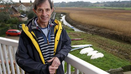 Cley-Next-The-Sea Harbour clearance project organiser Simon Read who's trying to to clear the Quay s
